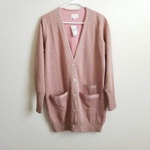 NWT J. Crew Collection Sparkly Knit Cardigan M